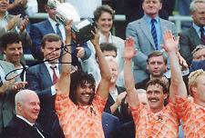 """Signed Ruud Gullit-Netherlands Euro 1988 Chelsea 12""""x8"""" photo (COA)"""
