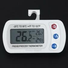 Waterproof Digital LCD Freezer Refrigerator Thermometer with Hanging Hook New