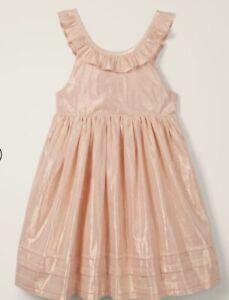 Mini Boden 5 5T New NWT Dress Mermaid Shimmer Sleeveless Ballet Rose Gold Pink