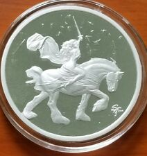 5 OZ SILVER .999 COIN PROOF STEVE FERRIS LADY GODIVA BOX & COA #104 NUDE ROUND