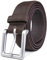 Handmade USA BlackBrownTan LEATHER Clip on Suspenders Braces Men 1 Inch Wide