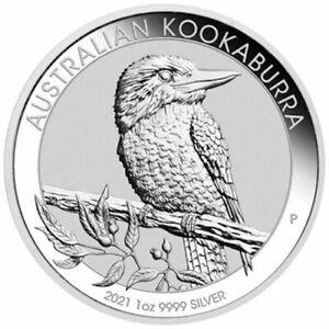 1 oz Silver Coin - 2021 Kookaburra - Perth Mint - Australian $1 Coin - Bullion