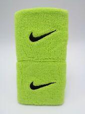 "Nike Swoosh Wristbands Atomic Green/Black 3"" Men's Women's"