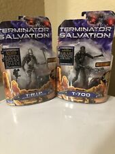 Terminator Salvation Movie Set of 2 Action Figures T-R.I.P + T-700  Size 6inch