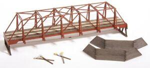 American Model Builders 727 Laser Art Wood Truss Auto Bridge HO Scale Kit