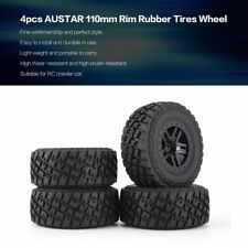 4pcs AUSTAR 110mm Rim Rubber Tires Wheel for Traxxas Slash 4X4 RC Crawler Car SW