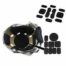 Helmet Protective Pad Set + Memory Foam For DIY Airsoft Tactical Military