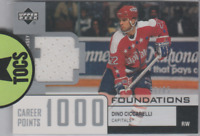 "Dino Ciccarelli 2002-03 UD Foundation Jersey Card ""1000 Points"" 56/85 Washington"