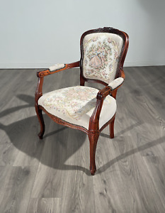 Stunning French Style Arm Chair In Mahogany Circa 1970