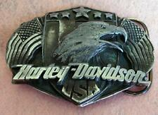 1989 HARLEY-DAVIDSON THE GREAT AMERICAN MASHINE MEN'S BUCKLE D-88 MADE IN USA