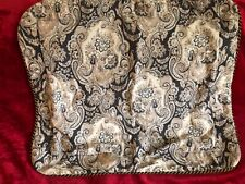 Paisley pillow sham standard size polyester cotton blend corded edge
