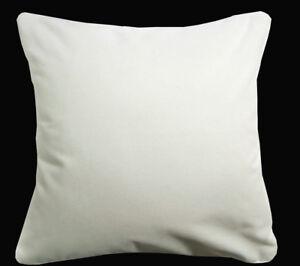 Mb51a Cream White Plain Flat Velvet Style Cushion Cover/Pillow Case*Custom Size*