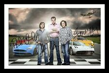 TOP GEAR CLARKSON /& MAY /& HAMMOND AUTOGRAPHED SIGNED /& FRAMED PP POSTER PHOTO