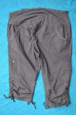 Crossroads Grey MATERNITY Roll Waist Cargo Pants. Stretch Size 18 rrp$39.95