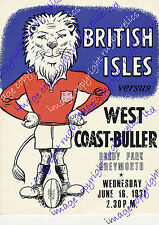 "West Coast - Buller v British Lions 1971 modern repro poster size A2 (23"" x 16"")"