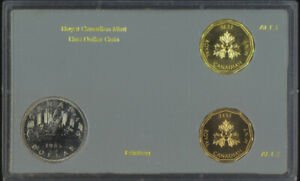 Royal Canadian Mint Circulating $1 One Dollar Coin Test Token Set Gold Bronze