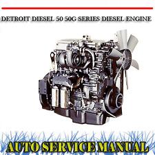 DETROIT DIESEL 50 50G SERIES DIESEL ENGINE WORKSHOP SERVICE REPAIR MANUAL ~ DVD