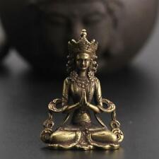 Handmade Buddha Statue Pendant Mini Ornament Solid Copper Miniature Figurines