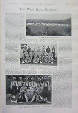 1898 BOER WAR ERA PRINT ~ WEST INDIA REGIMENT DEPOT OFFICERS CORPORAL BUGLER