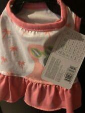 New listing Pouchella Dog Collection Couture Pink White Dress Palm Trees Nwt Xxs Flamingo
