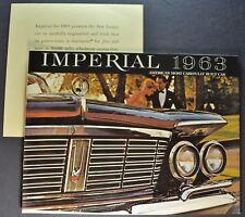 1963 Chrysler Imperial Brochure +Warranty Crown Custom LeBaron Excellent Orig 63