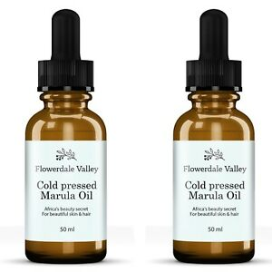 Marula Oil Cold Pressed 2x 50ml 100% Pure Vitamin C Anit-Aging for Hair & Skin