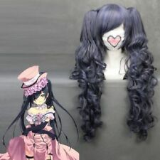 Black Butler Ciel Phantomhive 70cm Long Anime Cosplay wig & 2 Curly Ponytail