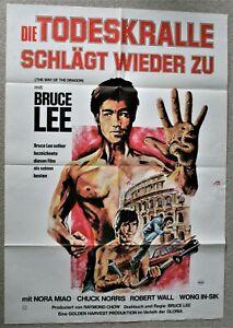 Bruce Lee Die Todeskralle schlägt wieder Orig. Kinoplakat/Poster A1 Chuck Norris