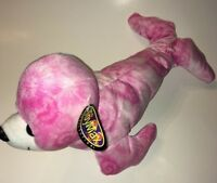 "Toymax Pink And White Seal NEW 16"" Plush Stuffed Animal"