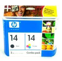 Genuine HP-14 ink cartridges Black,Tri-color. C9337BN NEW! UNOPENED.