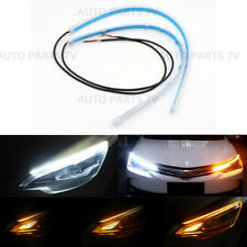 30CM LED Slim Headlight Strip Light DRL Drive Switchback Signal Flow Sequential