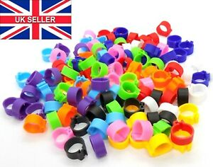 10mm Reusable Birds Rings Chicken Poultry Duck Quail Foot Tags Clips Bird Ring