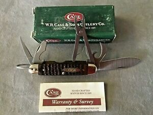 Case XX USA 2001 650045R  Camp Scout Pocket Knife Pliers Knives Tools In Box