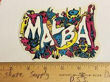 VTG 80's SANTA CRUZ MICKE ALBA MALBA CREATURES SMA NOS SKATEBOARD DECK STICKER !