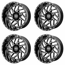 "4x Moto Metal 20x10 MO985 Breakout Wheels Gloss Black Machined 8x170 -18mm 4.79"""