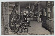 RARE Postcard ca 1908 Wheeler-Green Electric Company Rochester NY Store Interior