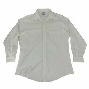 Brooks Brothers Slim Fit Dress Shirt Men's Size 16 1/2 White Long Sleeve Cotton