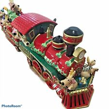Fitz and Floyd Santa Express Cookie Jar Christmas Train 19 1951 Limited Edition