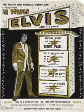 "Elvis Presley Pearl Harbor 16"" x 12"" Photo Repro Concert Poster"
