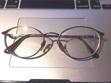Giorgio Armani Eyeglasses Italy 188 907 51-18-135 Round Golden Silver Y43