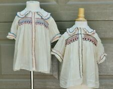 2 Vintage Hand Made Hand Smocked Embroidery Childs Shirts Charming
