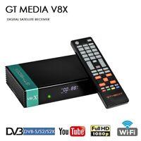 GTMedia Receptor TV Satelite 1080P V8X Decodificador DVB-S2X Soporte multi-room