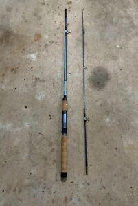 Vintage Garcia Conolon Blue 2pc 6 1/2' Fishing Rod 2609B Light Action Fast Taper