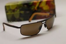 NEW Maui Jim KEANU Aviator Brown HCL BRONZE POLARIZED Lens Sunglass H271-01M