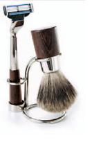 Concord Shear, WENGE SHAVE SET 3 pcs. Pure Badger Bristle-Stand & Razor Handle