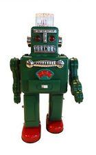 Blechroboter Smoking Spaceman grün, qualmt