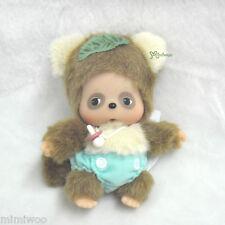 "Sekiguchi Monchhichi Friend Baby 5"" Bebichhichi Monkey Plush Doll Bbcc Raccoon"