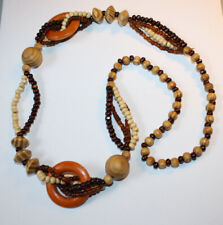MARNI H&M Wood Beaded Necklace