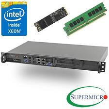 Supermicro 5018D-FN4T Xeon D 8-Core Front 1U Rackmount,Dual 10GbE,32GB, 256G M.2