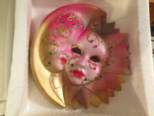 Lot Of 12 assorted Venetian Ceramic Wall Mask.Made in Italy. M-L